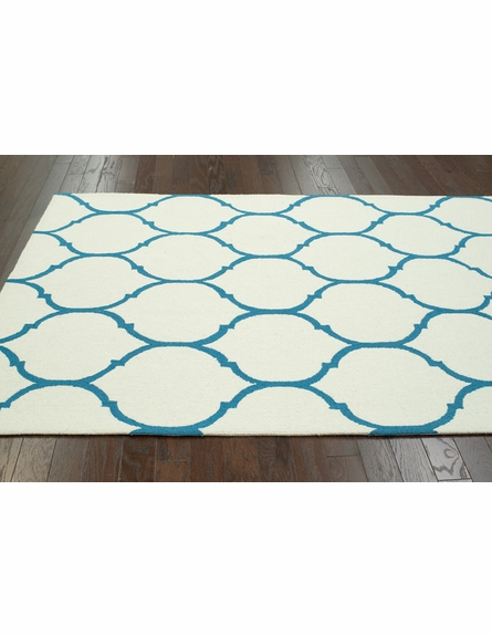 Honeycomb Rug in Blue