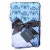Blue Small Damask Hooded Towel Set