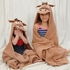 Hooded Towel - Brown Pony