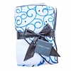 Dark Blue Swirl Hooded Towel Set