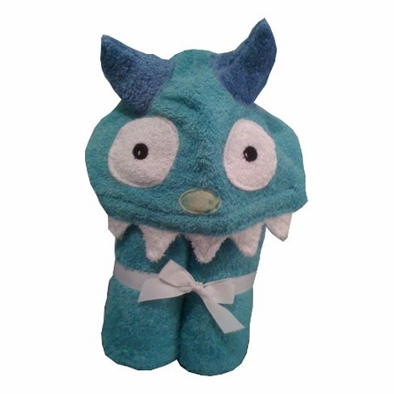 Hooded Towel - Monster in Turquoise