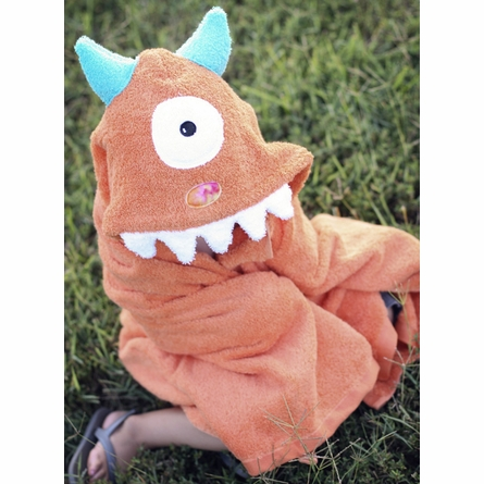 Hooded Towel - Orange Monster