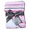 Pink Luxe Stripe Hooded Towel Set