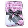 Pink Small Damask Hooded Towel Set