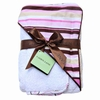 Pink Stripe Hooded Towel Set