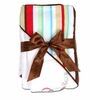 Red Stripe Hooded Towel Set