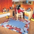 Hooks and Ladders Fire Truck Rug