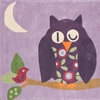 Hoot Rug in Purple