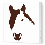 Horse Face Canvas Wall Art