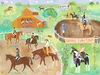 Horse Show Canvas Wall Mural