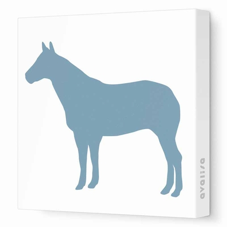 Horse Silhouette Canvas Wall Art