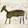 Horse Vintage Art Print on Wood