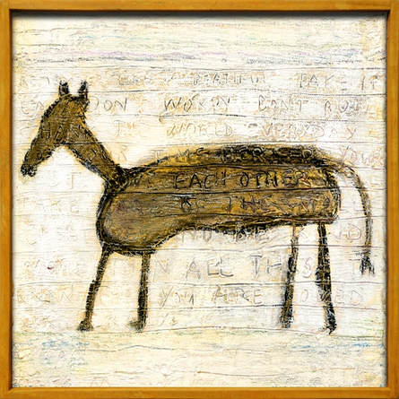 Horse Vintage Framed Little Art Print