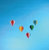 Hot Air Balloon Mobile with 5 Balloons
