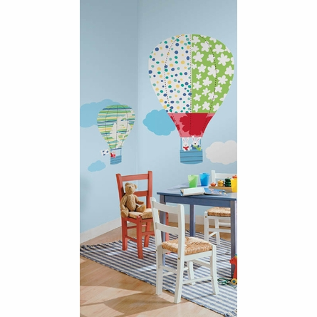 Hot Air Balloons Peel & Stick Wall Decal