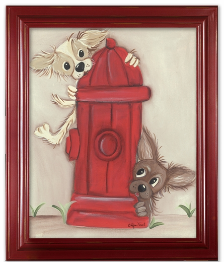 Hot Dogs Framed Canvas Reproduction
