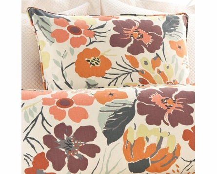 Hot House Floral Fall Square Pillow