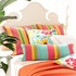 Hot House Floral Summer Square Pillow