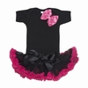 Hot Pink and Black Bowtique Tutu Set