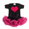Hot Pink and Black Tutu Love Set