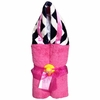 Hot Pink and Navy Chevron Hooded Towel