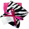 Hot Pink and Zebra Burp Cloth Set