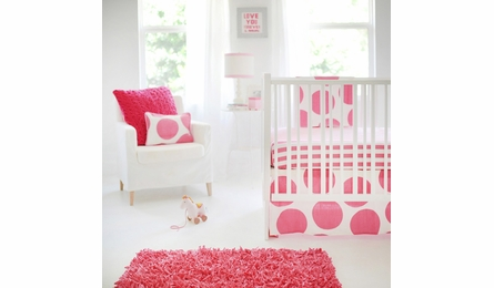 Hot Pink Candy Stripe Crib Sheet