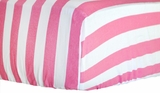 Hot Pink Candy Stripe Crib Sheet $(+60.00)