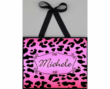 Hot Pink Cheetah Wall Art