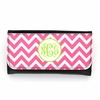 Hot Pink Chevron Monogram Wallet