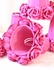 Hot Pink Dupioni Silk and Roses Chandelier Shade