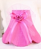Hot Pink Dupioni Silk and Tulle Lamp Shade