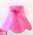 Hot Pink Dupioni Silk and Tulle Table Lamp