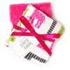 Hot Pink Giraffe Burp Cloth