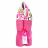 Hot Pink Giraffe Hooded Towel