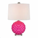 Hot Pink Glass Accent Lamp