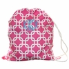 Hot Pink Links Personalized Laundry Bag