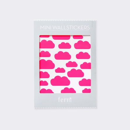 Hot Pink Mini Clouds Wall Stickers
