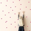 Hot Pink Mini Hearts Wall Stickers