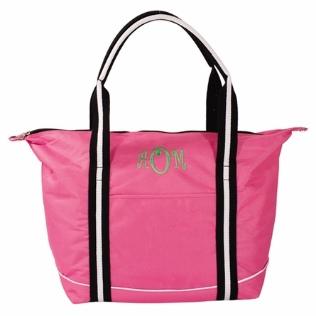 Hot Pink Personalized Sporty Tote Bag