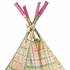 Hot Pink Plaid Teepee