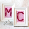Hot Pink Rose Personalized Initial Picture Frame