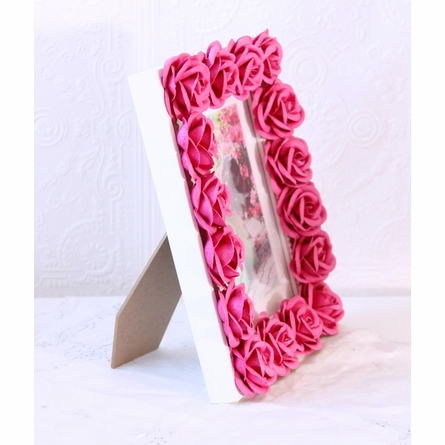 Hot Pink Rose Picture Frame