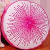 Hot Pink Round Starburst Throw Pillow