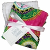 Hot Pink Spice Burp Cloth Set