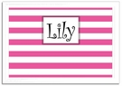 Hot Pink Stripe Framed Magnetic Board
