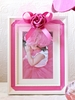 Hot Pink Tulle Bow Picture Frame