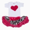 Hot Pink Zebra Tutu Love Set