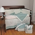 Houndstooth Aqua Crib Bedding Set