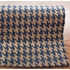 Houndstooth Jute Rug in Blue